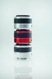 Three mirrorless lens up.  Royalty Free Stock Photos