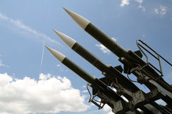 Three missiles Stock Image