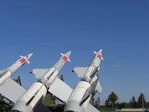 Three missiles are ready Royalty Free Stock Image