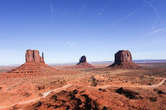 Three Mittens at Monument Valley Stock Image