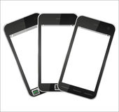 Three mobile phone Stock Images
