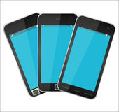 Three mobile phone Royalty Free Stock Photo