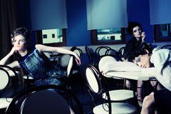 Three models Stock Photo