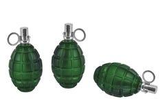 Three models of grenade Royalty Free Stock Photo