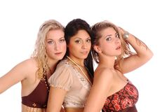 Three Models standing together Stock Images