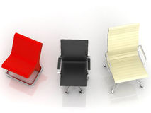 Three Modern Chairs Stock Photos