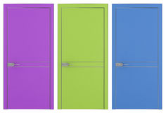 Three modern doors Royalty Free Stock Images