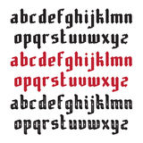 Three Modern Gothic Fonts Stock Photography