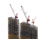 Three Modern Highrise Constructions Stock Photography