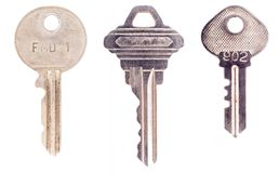 Three modern keys Royalty Free Stock Images