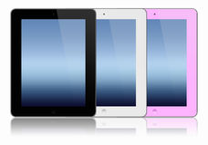 Three modern tablet pc Royalty Free Stock Photo