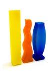 Three modern vases Royalty Free Stock Photos