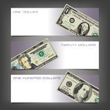 Three Money Banners. With Space for Type Royalty Free Stock Photos