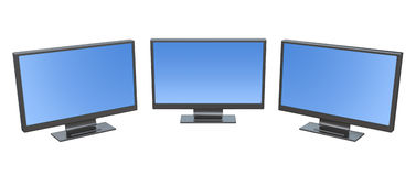 Three monitor Stock Images