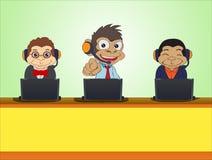 Three monkey business Royalty Free Stock Photos