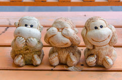 Three monkey Royalty Free Stock Photos