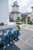 Three monkey gestures at Wat Arun Royalty Free Stock Photography