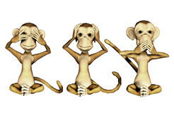 Three Monkeys Stock Images