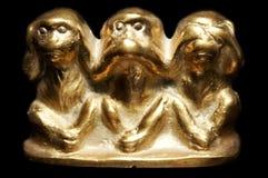 Three monkeys figurine royalty free stock image
