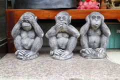 See no evil speak no evil hear no evil royalty free stock photo