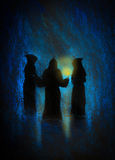 Three monks Stock Images