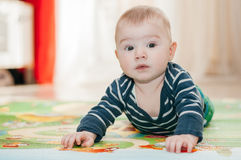 Three-months kid Stock Images