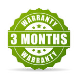 Three months warranty vector icon. Illustration Royalty Free Stock Images