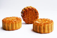 Three moon cakes Stock Photo