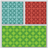 Three mosaic patterns Royalty Free Stock Photography
