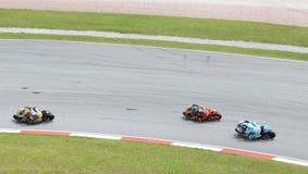 Three MotoGP 250cc rider Royalty Free Stock Photography