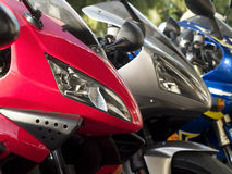 Three motorbikes Stock Image