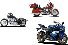 Three motorcycles Royalty Free Stock Images