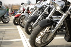 Three motorcycles Stock Images