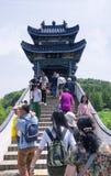 Three mount Island bridge wuxi china Royalty Free Stock Image