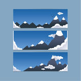 Three mountain banners for website or presentation. Concept is f Royalty Free Stock Photography