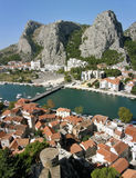 Three mountain peak in Omis 1 Royalty Free Stock Images