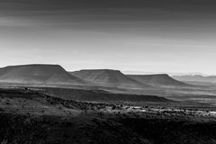 Three mountains in Mountain Zebra National Park Royalty Free Stock Image