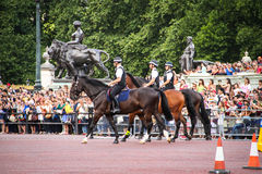 Three mounted police officers, London.JPG Stock Image