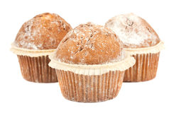 Three muffins Royalty Free Stock Images
