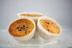Three Muffins Royalty Free Stock Photos