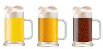 Three mug of beer Royalty Free Stock Image