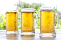 Three mug of beer Stock Photography