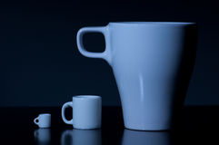 Three mugs Stock Photos