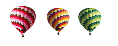 Three multi-colored balloons Stock Photos