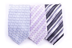 Three multi-colored tie Royalty Free Stock Images