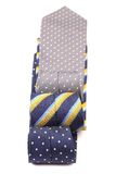 Three  multi-colored tie. Stock Images
