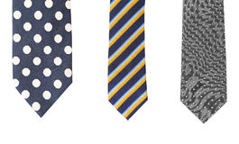 Three multi-colored tie. Royalty Free Stock Photography
