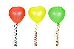 Three multi-coloured balloons Royalty Free Stock Photo