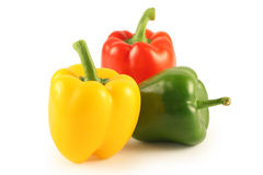 Three multi-coloured pepper Stock Photo