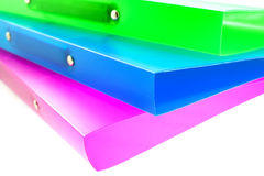 Three multicolored folders Stock Photography
